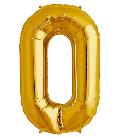 40'' Gold Letter 'O' Foil Balloon