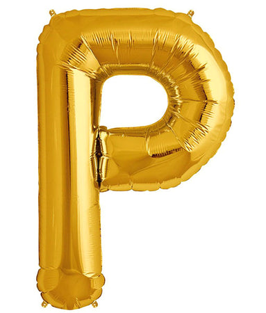 40'' Gold Letter 'P' Foil Balloon