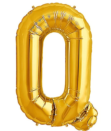 40'' Gold Letter 'Q' Foil Balloon