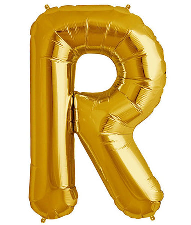 40'' Gold Letter 'R' Foil Balloon