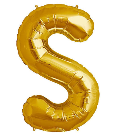 40'' Gold Letter 'S' Foil Balloon