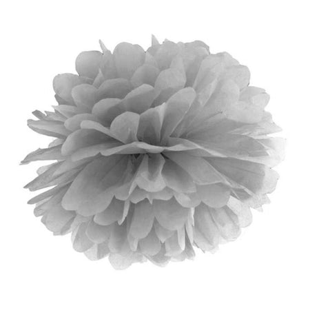 Decorating grey Pom - Pom flower