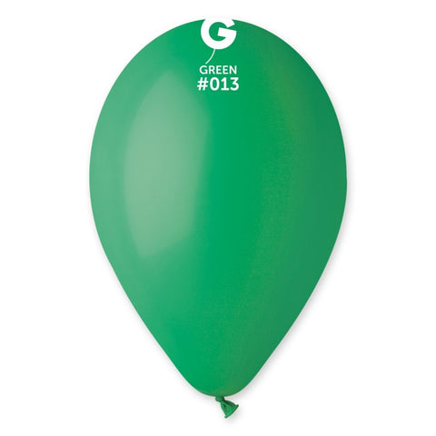 9'' Green Latex Balloon (100 pcs)