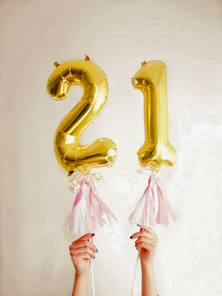 16'' Gold number '5' Foil Balloon