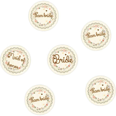 Handmade floral Badges for Bachelorette party