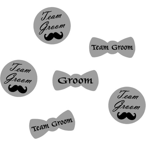 Handmade grey Badges for Bachelor party