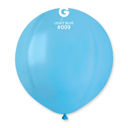 19'' Light Blue Latex Balloon (50 pieces)