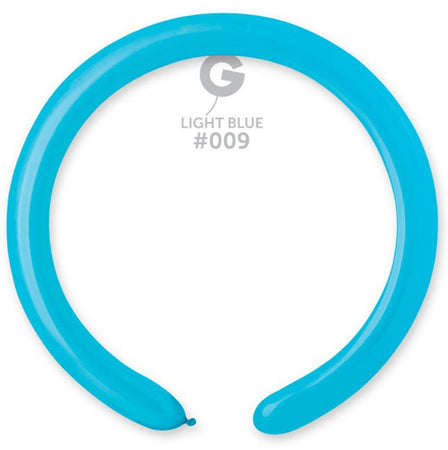 260 Light Blue Modelling Latex Balloon (100 pcs)