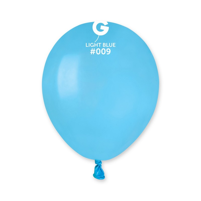 5'' Light Blue Latex Balloon (100 pcs)