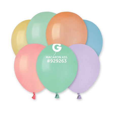 5'' Macaron Assorted Colors Latex Balloon (100 pcs)