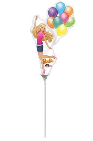 14'' Mini Shape Barbie with balloons foil balloon