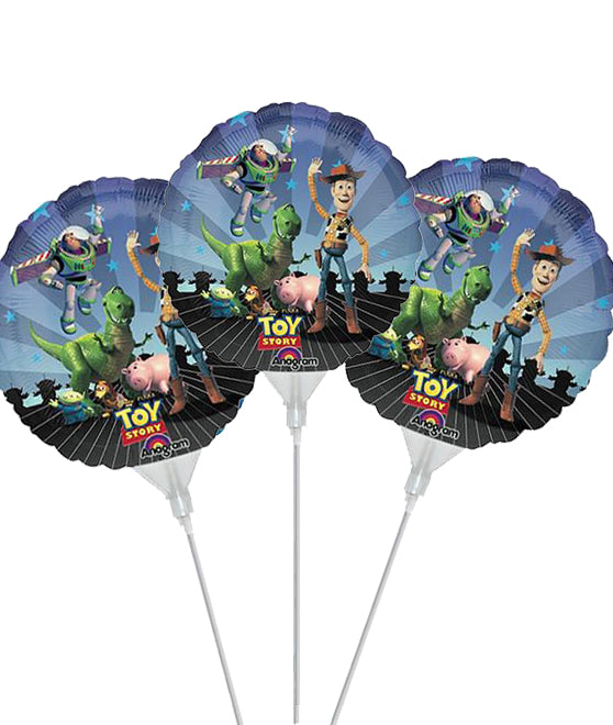 9'' Mini Shape Toy Story Gang foil balloon (3 pcs)
