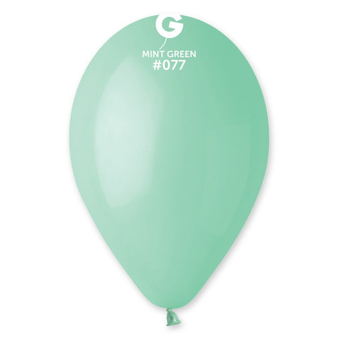 9'' Mint Green Latex Balloon (100 pcs)