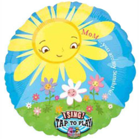 28'' Mom you're my sunshine Sing-A-Tune Foil Balloon