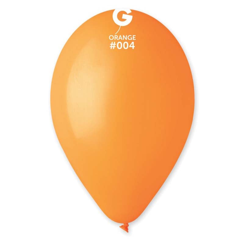 9'' Orange Latex Balloon (100 pcs)