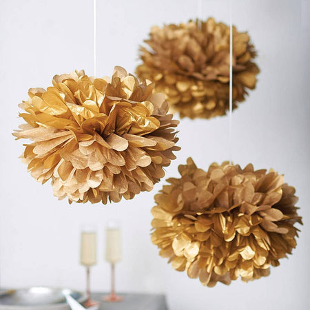 Decorating gold Pom - Pom Flower