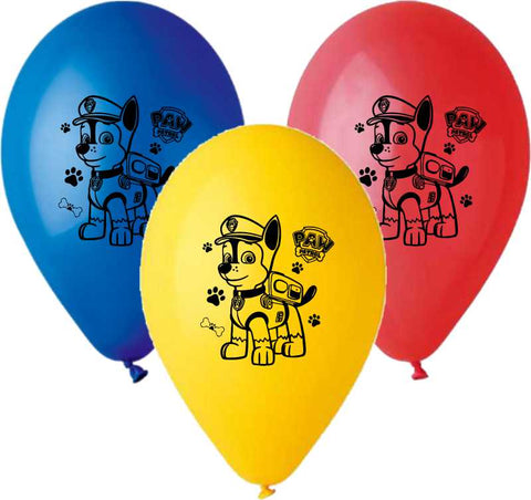 13'' Printed Paw Patrol in 3 Colors Latex Balloon (25 pcs)