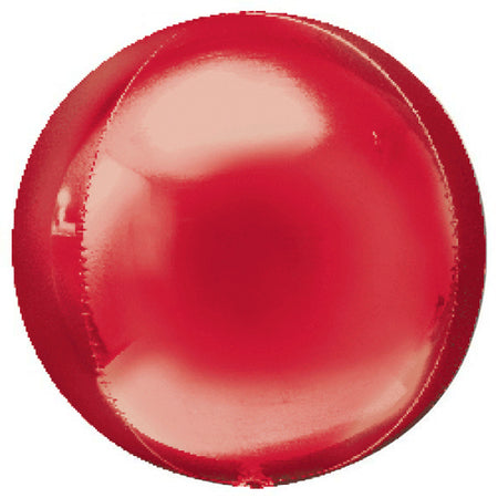 16'' Red Orbz Foil Balloon
