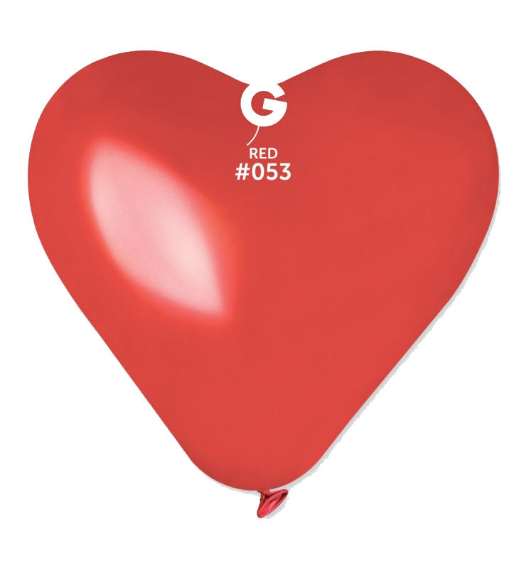 17'' Heart Red Latex Balloon (50 pcs)