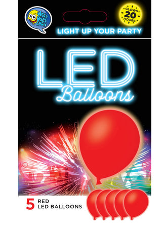 Red LED Balloons (5 pcs)