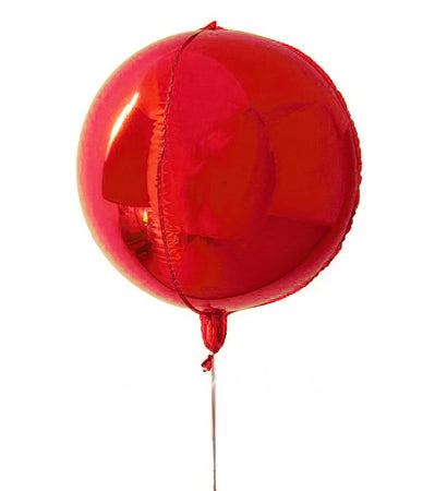 16'' Orbz Red Foil Balloon