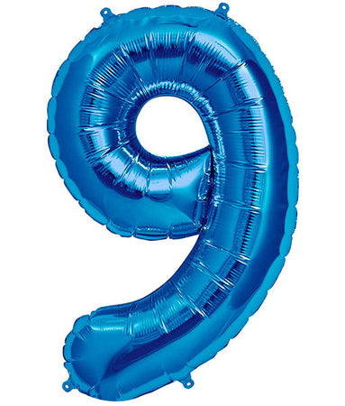 40'' Blue Number '9' Foil Balloon