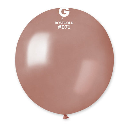 19'' Rose-Gold Latex Balloon (50 pieces)