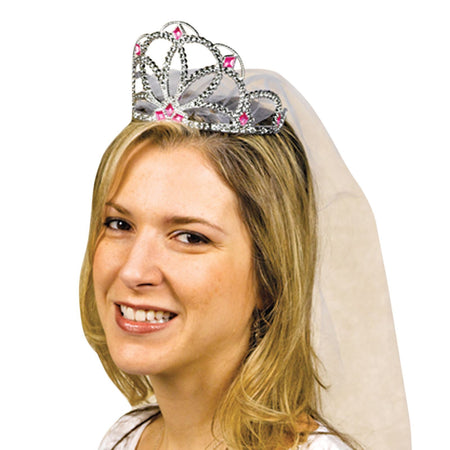 Tiara with veil for bachelor party