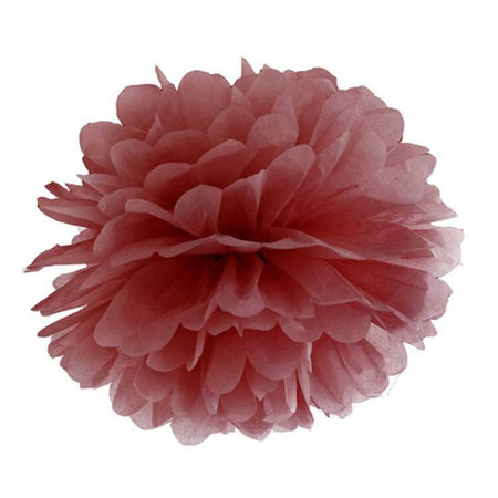 Decorating dusty Pink Pom - Pom flower