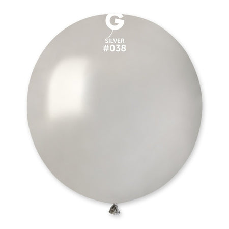 19'' Silver Latex Balloon (50 pieces)