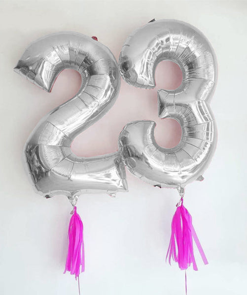 16'' Silver number '2' Foil Balloon
