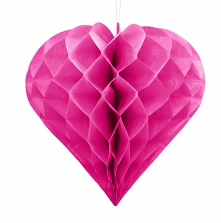 Dark pink Heart Honeycomb Ball (30 cm)