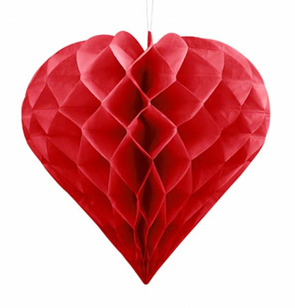 Red Heart Honeycomb Ball (30 cm)