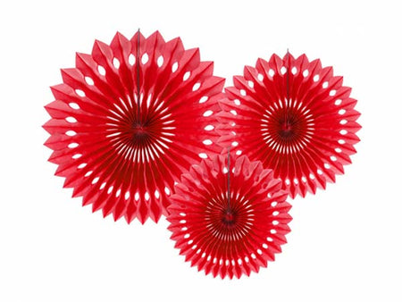 Red Tissue fan (3 pcs)