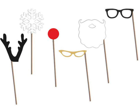 Happy New Year Photo-booth Sticks (6 pcs)