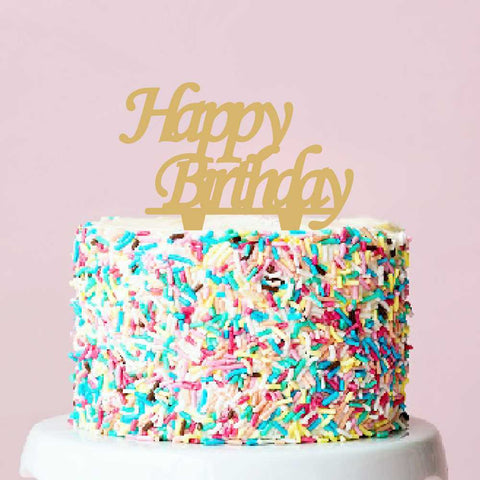 Topper gold decorative Happy Birthday