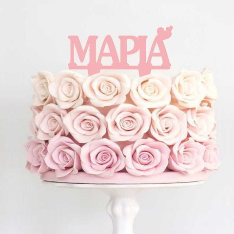 Topper pink decorative with Name