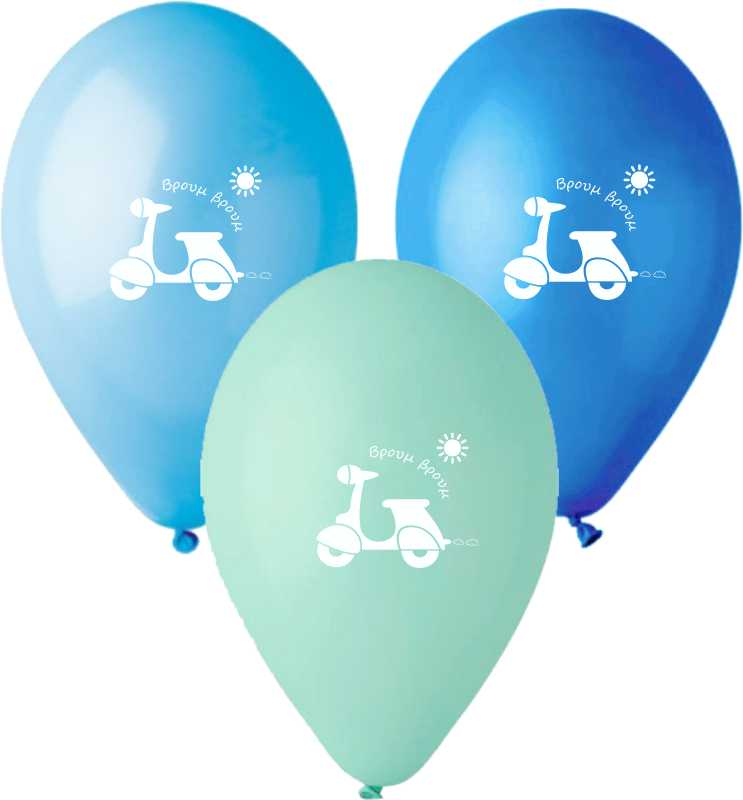 13'' Printed Vespa Latex Balloon (25 pcs)
