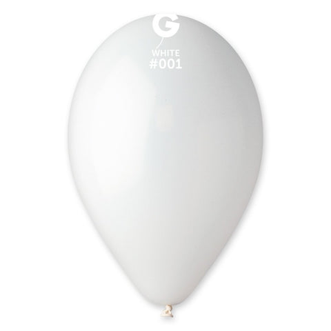 9'' White Latex Balloon (100 pcs)