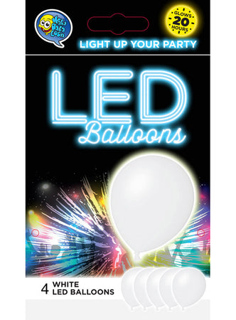White LED Balloons (4 pcs)