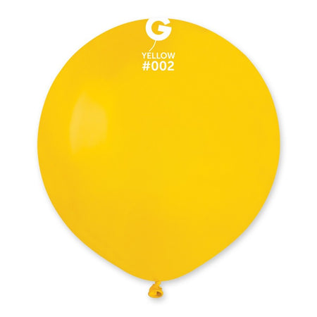 19'' Yellow Latex Balloon (50 pieces)