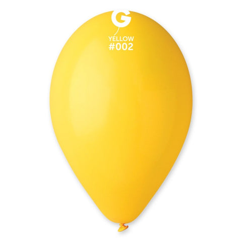 9'' Yellow Latex Balloon (100 pcs)