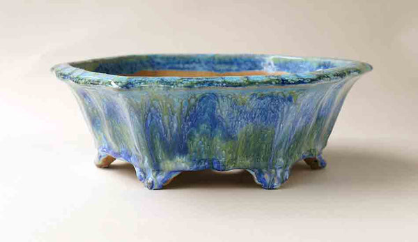 Blue & Green! Shuuhou Hexagonal Bonsai Pot