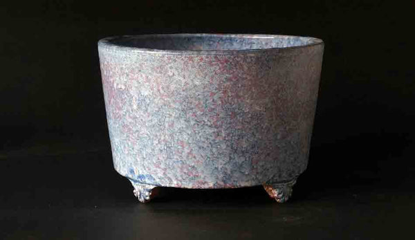 Tube Type Bonsai Pot in Sky Blue & Pink