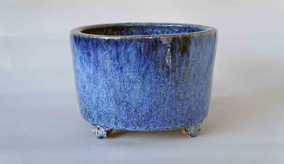 Tube Type Bonsai Pot in Blue