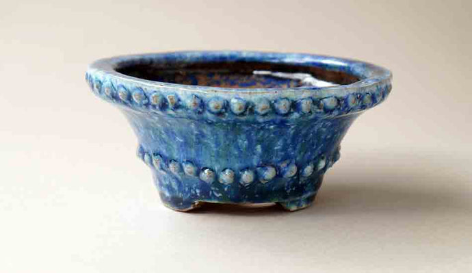 Blue Rivet Bonsai Pot by Shuuhou 5.0