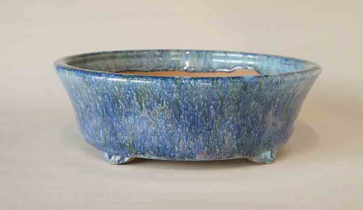 Round Bonsai Pot in Pastel Color Glaze by Shuuhou ++Shipping Free