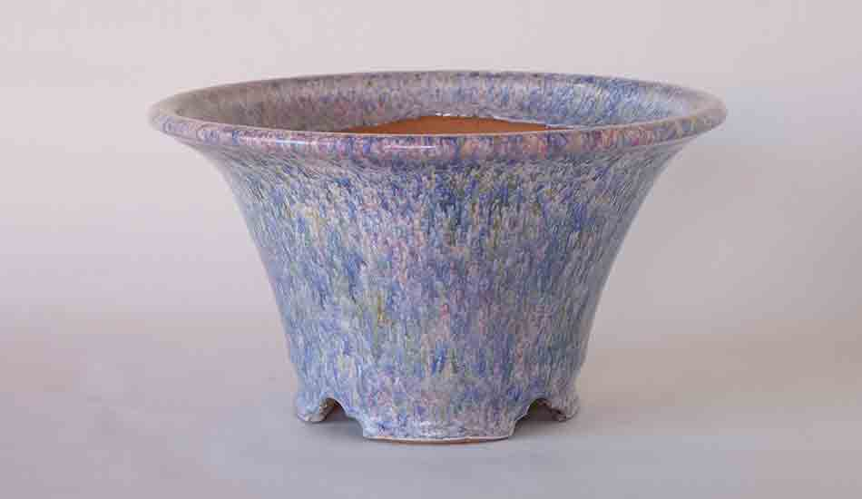 Pastel Glazed Bonsai Pot by Shuuhou