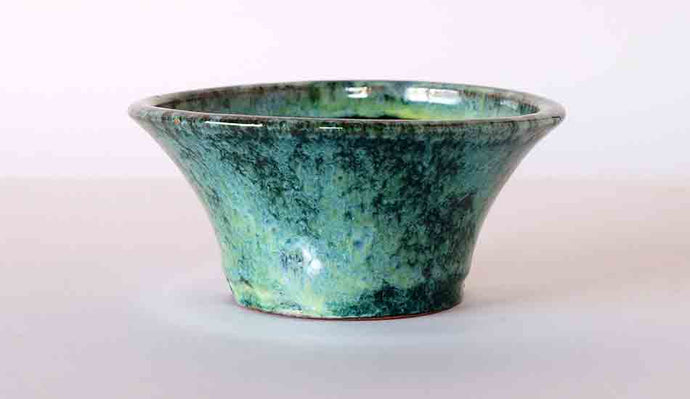 Green Round Bonsai Pot  by Shuuhou ++ Shipping Free!