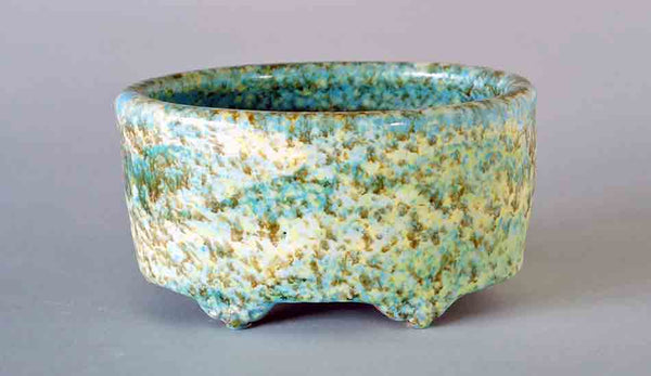 Shuuhou Oval Bonsai Pot in Sky Blue, Green & Yellow ++Shipping Free!